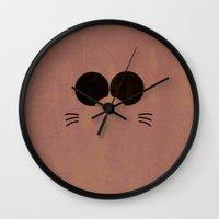 gurren lagann Wall Clocks featuring Minimalist Boota by 5eth