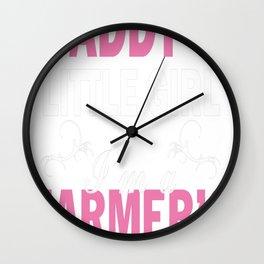 I am a farmer's daughter Wall Clock