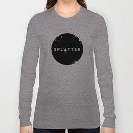 Splatter Circle Long Sleeve T-shirt