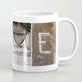 HOME photo letter art typography Coffee Mug