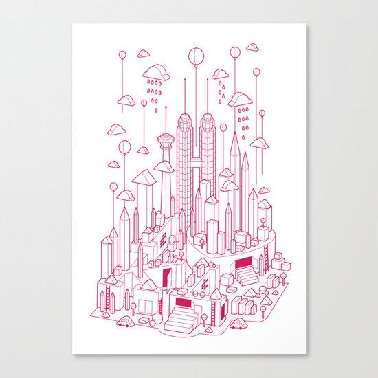 Kuala Lumpur (Red ver.) Canvas Print