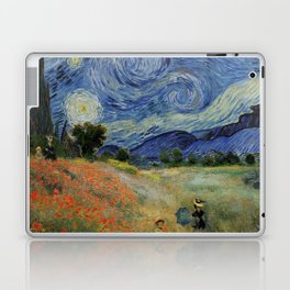 Poppy Fields + Starry Night | Collage 2.0 by Kristi Duggins Laptop & iPad Skin