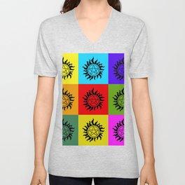 Supernatural Color Block Unisex V-Neck