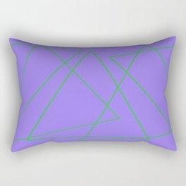 Purple & Green Rectangular Pillow