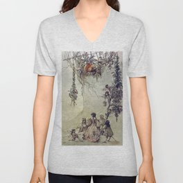 """The Fairies Ascent"" by A. Duncan Carse Unisex V-Neck"