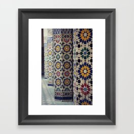 Flower Columns Framed Art Print