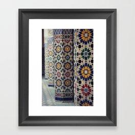 Flower Columns Framed Art Print