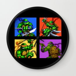 Turtle Pixel Wall Clock