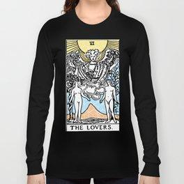 Geometric Tarot Print - The Lovers Long Sleeve T-shirt