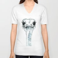 percy jackson V-neck T-shirts featuring Percy the Ostrich by Bridget Davidson