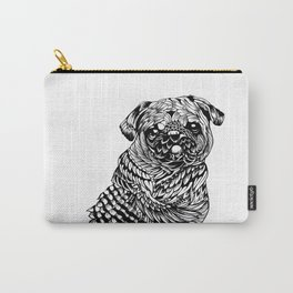 Pug Feather Carry-All Pouch