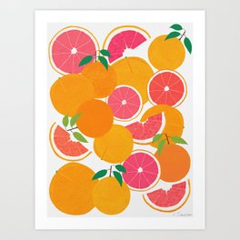 Grapefruit Harvest Art Print