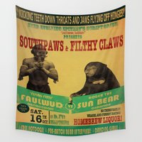 boxing Wall Tapestries featuring Boxing Poster by EverEvolvingEpithet