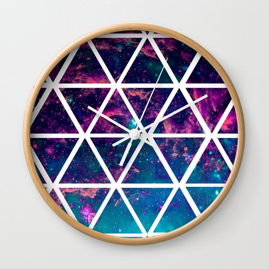 GALAXY TRIANGLES Wall Clock