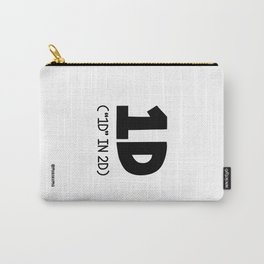 """""""1D"""" IN 2D (Black) Carry-All Pouch"""