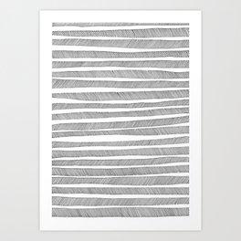 hand-drawn pattern no 10 Art Print