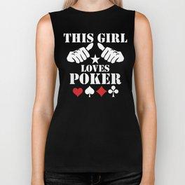 This Girl Loves Poker Biker Tank