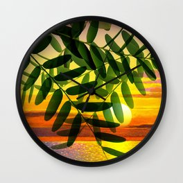 Acacia by the lake Wall Clock
