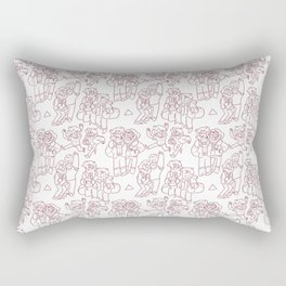 Stan and Ford Pattern Rectangular Pillow