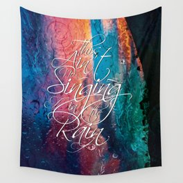 Singing in the rain Wall Tapestry