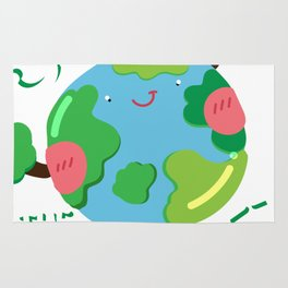 Save The Planet For Me Earth Day Rug