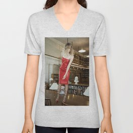 Lady in Red Unisex V-Neck