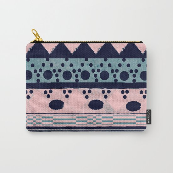 PASTEL NORDIC TRIBAL II Carry-All Pouch