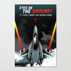 Eyes on the Ground Canvas Print