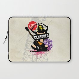 Censored Sexy Lady with mixed Street Art Laptop Sleeve