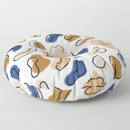 Blue and beige abstract design  Floor Pillow