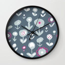 Bold flowers2 Wall Clock