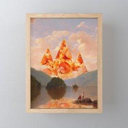 PIZZA MOUNTAINS Framed Mini Art Print