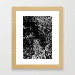 Wish You Wehe Here... #4 Framed Art Print