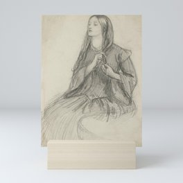 Dante Gabriel Rossetti Elizabeth Siddall Plaiting her Hair Mini Art Print
