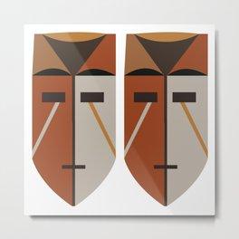 African Tribal Mask No. 4 Metal Print