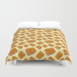 Gimme some sugar! yellow :) Duvet Cover