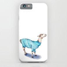 Llama in a Blue Sweater iPhone 6s Slim Case