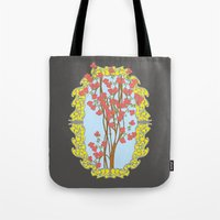 frame Tote Bags featuring Frame  by nandita singh