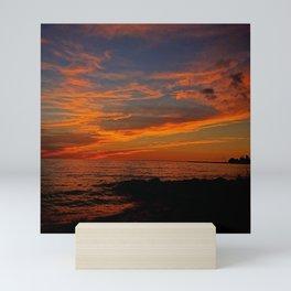 First Sunset of Summer Mini Art Print