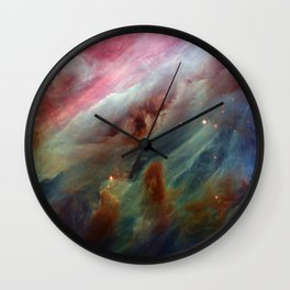 The Orion Gas Clouds Wall Clock