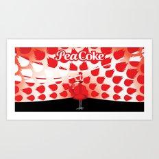The PeaCoke Art Print