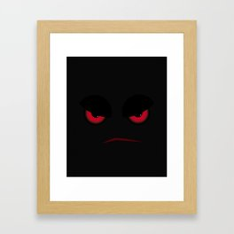 Halloween Evil Face Looking At You Framed Art Print