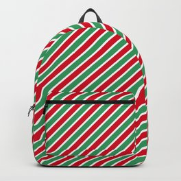 Christmas Tight Stripes Backpack