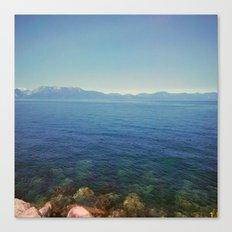 Front lake view Canvas Print