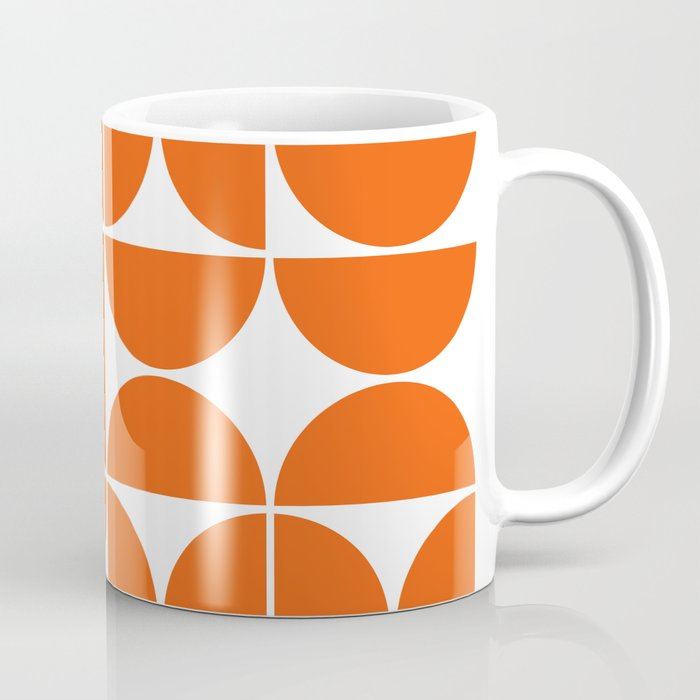 Mid Century Modern Geometric 04 Orange Coffee Mug