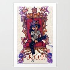 King Of Pop Art Print