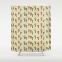 ice cream Shower Curtains featuring Ice Cream by victoria negrin