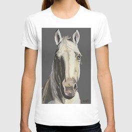 Horse Art, Grey Horse Art, Farm Animal Art T-shirt