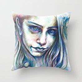 Blueberry Binge Throw Pillow