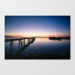 Sunset at Montevideo bay Canvas Print